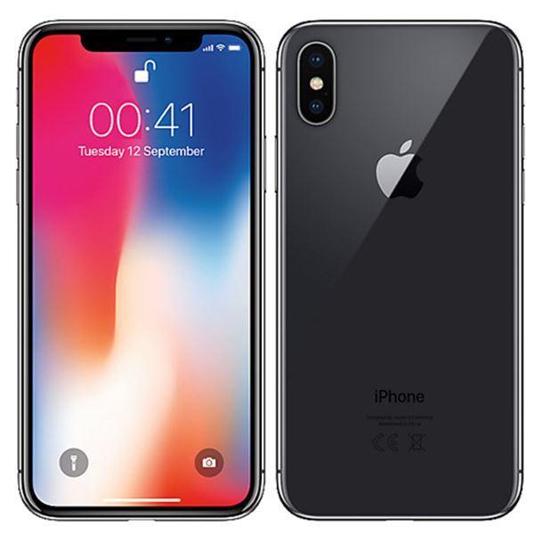 iPhone X A1865 256GB Silver refurbished Grade B by ...